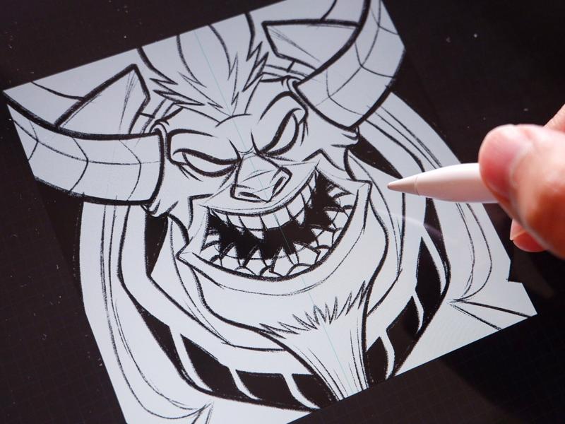 Daily sketch fantasy monster digital art illustration procreate pencil drawing doodle sketch