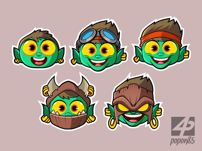 Latest Project - Emotes gamer streaming illustrator illustration vector mascot design digital art mascot character cartoon character design drawing