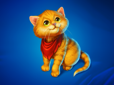 Baby Puss in Boots icon game art illustration kitten game object cute