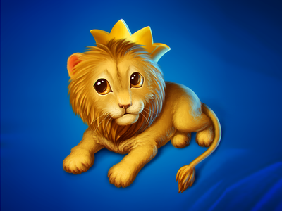 Little Lion icon game art illustration kitten game object cute