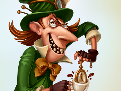 Mad Hatter character design illustration game art mobile games sketch character mad tea party mad hatter