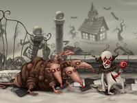 Horror game concept art
