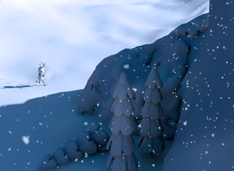 High Hopes character 3d art snowman snow 3d animation 3d artist modeling characterdesign maya animation 3d