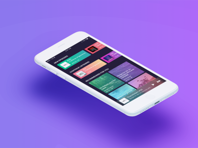 Podcast App sketch together colorful iphone ios app ui ux gradient podcast