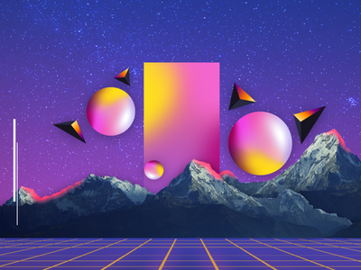 Vaporwave Wallpaper illustration