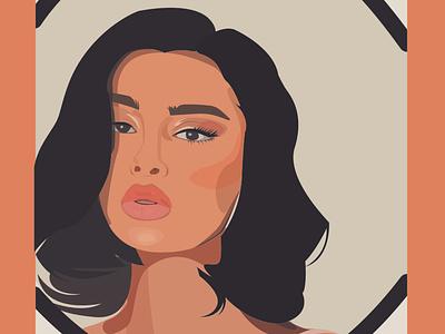 GIRL in a mirror uxui uiux vector uidesign ui illustrations illustration art adobe adobe illustrator illustration design