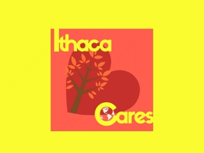 Ithaca Cares ux ui typography logo icon graphic design illustration design