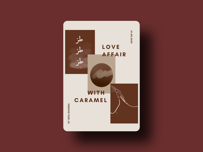 Love Affair with Caramel procreate line art urdu adobexd flat ui ux vector logo icon branding graphic design typography illustration design