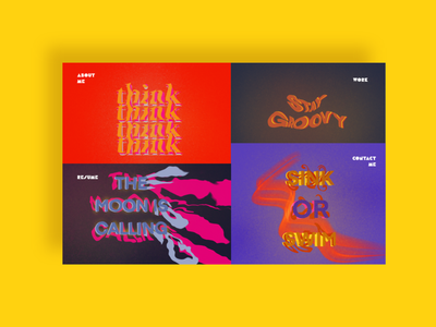 Groovy Website Design groovy website design website mockup prototype adobexd ux ui vector graphic design branding typography illustration design