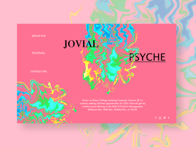 Jovial Psyche Theme ui ux ui website design prototype mockup adobexd minimal graphic design web typography illustration design