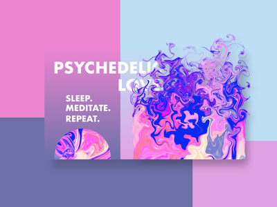 Psychedelic Love. lifestyle meditation website psychedelic minimal website design mockup ux adobexd ui vector graphic design typography illustration design