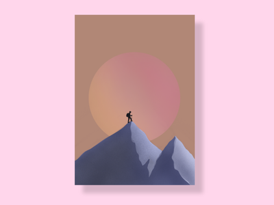 aim high gradient poster design poster art poster adobexd vector graphic design illustration design