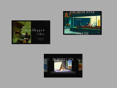 The Edwin Hopper gallery website design design mockup mockup ux branding logo vector adobexd typography graphic design illustration design