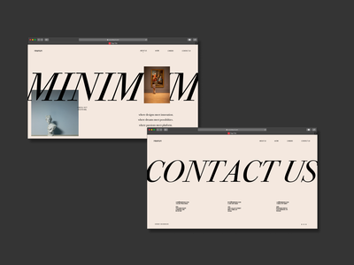 MINIMUM - A Website Mockup website design prototype website mockup mockup branding ux ui adobexd vector typography design