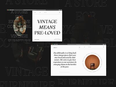 VINTAGIAN - a vintage collectible website concept graphic design ux prototype website design website mockup mockup branding logo ui adobexd vector typography illustration design