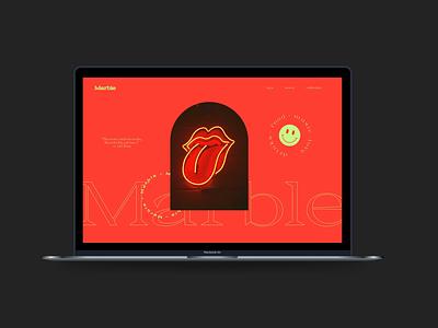 Marble - a website mockup graphic design logo prototype website website design website mockup mockup figma adobexd vector typography ux branding ui illustration design