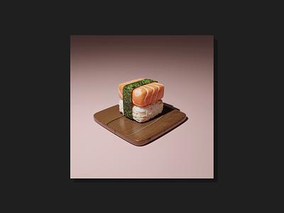 3d Sushi blender cycles render 3d render modeling 3d figma 3d food 3d art 3d modeling blender3d blender graphic design illustration design