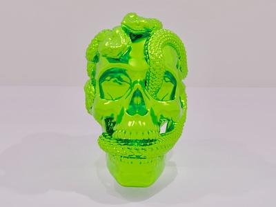 3d skull snake blender cycles blender render render 3d modeling 3d art blender3d blender graphic design illustration design