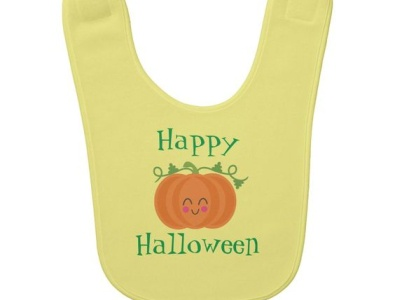 Happy Halloween Bib pumpkin baby bib halloween