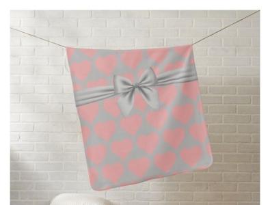 Baby blanket babies gift baby shower zazzle cozy soft blanket pretty hearts girl baby