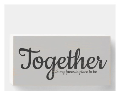 Together is my favorite place to be zazzle love place favorite together family decorate wall art decor home