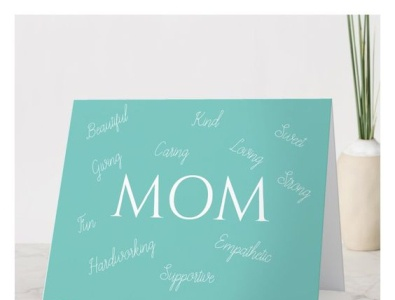 Card for MOM design zazzle beautiful love card mom