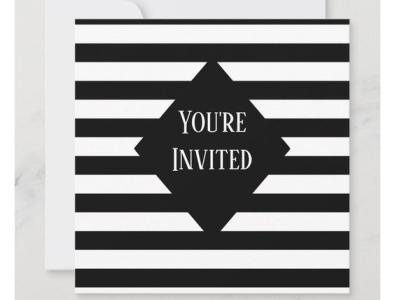 Invitation design black  white black party birthday party birthday zazzle invites invite invitation