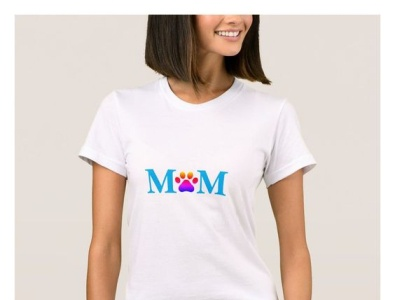 Doggy Mom Shirt zazzle doggymom mother mom shirt pets doggy dogs dog