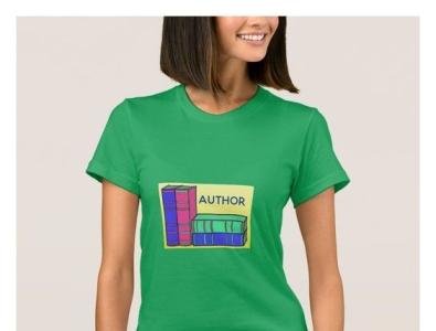 Author T-shirt zazzle writing writer book books author