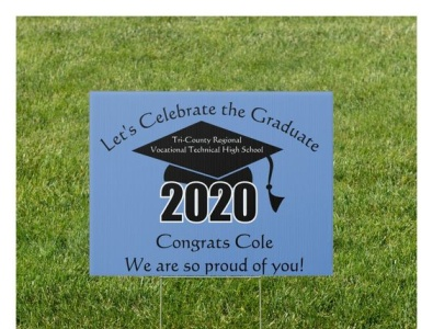 Outdoor Sign zazzle 2020 design signs outdoorsign graduated 2020 seniors congrats graduate graduation