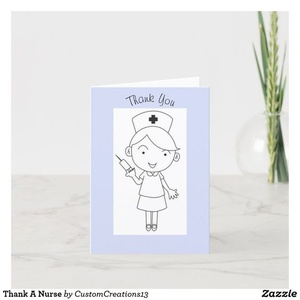 Thank You Card For That Special Nurse In Your Life zazzle thankful appreciation card thankyou thanks nurse