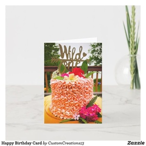 Happy 1st Birthday pretty zazzle cake birthday cake girl boy babies baby celebration card celebrate birthday card happybirthday birthdays birthday 1st first