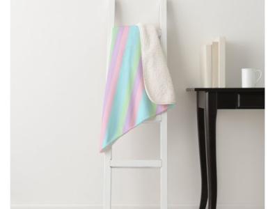 Pretty Pastel Sherpa Blanket housewarming zazzle color pastel colorful cozy warm blankets blanket sherpa