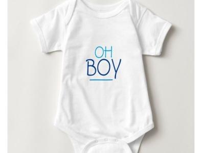 Oh Boy One Piece cute baby shower ohboy zazzle babies baby boys boy