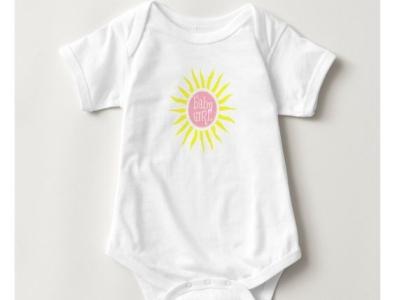 Baby girl one piece onepiece cute pretty zazzle baby shower sunshine sun babygirl girls girl babies baby