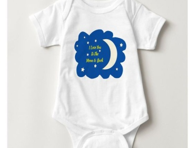 Love you to the moon & back one piece pretty zazzle love stars sky moon babies baby