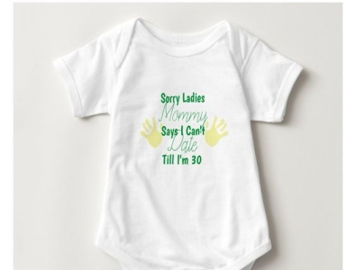 Sorry ladies baby one piece zazzle silly child kids babies baby cute mommysays nodating
