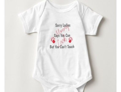 You can look one piece cute mommysays canttouch notouching zazzle babies baby