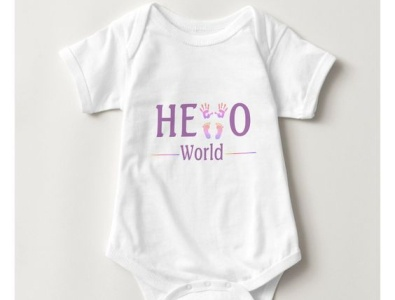 Hello World One piece hello helloworld onepiece girls girl baby shower pretty babies baby zazzle