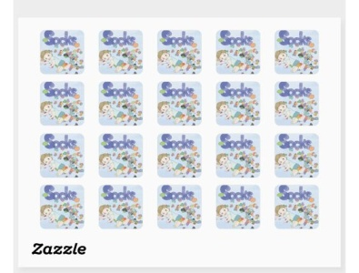 Stickers from SOCKS book - fun for kids zazzle playingwithsocks socks boy girls baby toddlers babies kids fun stickers