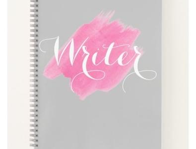 Writer Notebook notebooks notepad pink pretty notebook writer zazzle