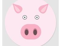 Pig sticker for kids animals pink cute silly sticker zazzle pigs pig