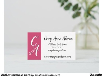 Author Business Cards writing writer author zazzle carddesign business cards business card business