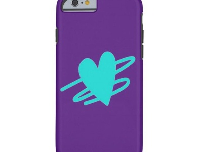 iPhone Case girl design zazzle heart purple girly pretty cases case iphone