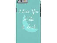 I love you to the moon & back girly girls moon pretty design zazzle phone phonecase cases case iphone
