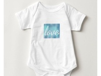 Love baby one-piece girls girl heart zazzle baby shower babies baby
