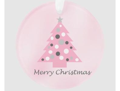 Pretty pink Christmas ornament merry christmas tree pretty pink