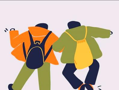 beck to school animation minimal illustration icon photoshop logo illustrator illustrations designer design
