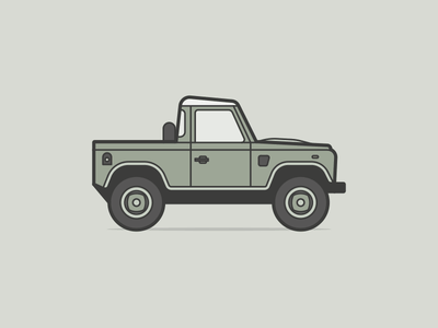 Land Rover Defender retro redbubble cubhaus countrylife green auto car truck pickup defender landroverdefender landrover