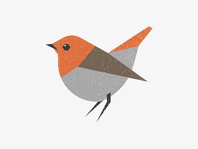Robin birds xmas christmas winter geometric retro cubhaus negative bear illustration bird rupert robin robin